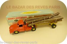 DINKY TOYS  FRANCE. Tracteur WILLEME fardier.  REF: 36A + boite