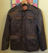 Vintage RARE Gaminerie Women's Brown Light Jacket Size 3 Front Button Down Lined