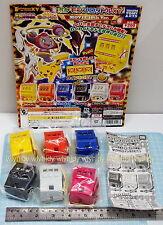 Pokemon The Movie XY Mini Jack Pot Slot Machine 6pc+Display Card-Takara Gashapon