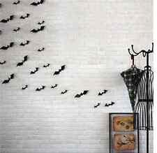 Bat Wall Sticker Decal Home Décoration Halloween 12pcs Noir 3D À faire soi-même PVC