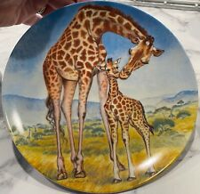 """New ListingVintage 1981 """"A Kiss For Mother� Knowles Collector's Plate Awesome! Giraffe"""