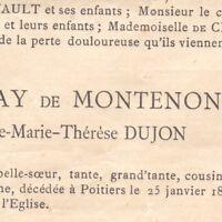 Constance Dujon Geay De Montenon Poitiers 1896