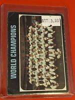 VINTAGE 1971 Topps Baseball Card Set #1 WORLD CHAMPION BALTIMORE ORIOLES
