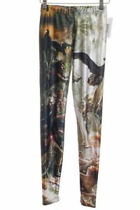 BLACK MILK Leggings Motivdruck Casual-Look Damen Gr. DE 36 schwarz Hose Trousers
