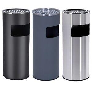 Cendrier sur pied extérieur avec poubelle en acier inoxydable seau intérieur