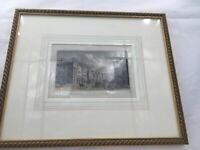 Tho H Shepard Framed Art Regent Street Circus Piccadilly Hand Drawn And Engraved