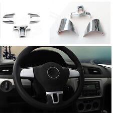 CHROME STEERING WHEEL COVER CAP VW GOLF 6 VI TOURAN TIGUAN POLO CADDY EOS JETTA