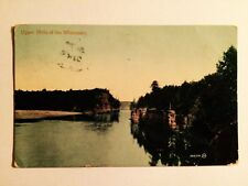 OLD UPPER DELLS OF THE WISCONSIN POSTCARD POSTMARK EARLY 1900'S