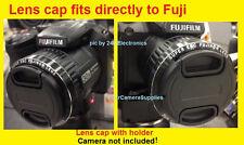 LENS CAP  DIRECTLY TO FUJI S6600 HD S6600HD S 6600 FINEPIX FUJIFILM+HOLDER