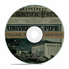 Vintage Mining and Scientific Press, 1903 - 1922, 1000 Back Issues Vol 3 DVD V35