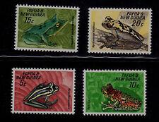 PAPUA NEW GUINEA SCOTT# 257-260 MNH  FROGS