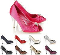 Women Peep Toe Evening,Proms, Bridesmaids Sandal Sz 3-8