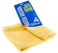 Waffle Micro Fibre Drying Towel Streak Free Finish Water Absorbant Car Cleaning