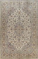 Vintage Floral Ivory Ardakan Handmade Area Rug Traditional Oriental Carpet 8x12