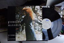 """FIORELLA MANNOIA - DI TERRA E VENTO - VINILE - LP - 45 GIRI - 12"""" - EX"""