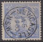 New South Wales 1890 Used 20/ Cobalt Blue P11 SG264A SUPERB POSTMARK