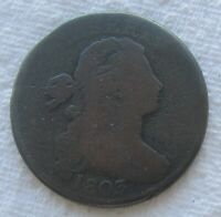 1803 1C BN Draped Bust Large Cent Full Date Minor Scratches and Digs