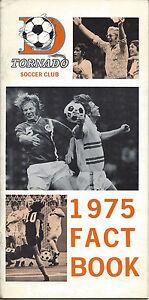 1975 Dallas Tornado Media Guide
