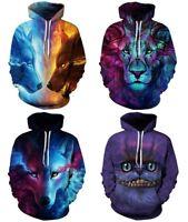 New Women's Men's 3D Graphic Galaxy Printed Sweatshirt Jumper Hoodies Tops