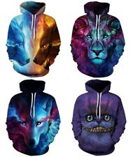 New Women's Men's 3D Graphic Galaxy Printed Sweatshirt Jumper Hoodies Tops