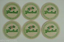 Set of 6 - Vintage Grolsch Beer Coasters Brewiana - VAKMANSCHAP IS MEESTERSCHAP