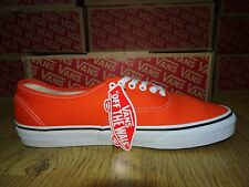 Vans Orange Flame/True White Trainers *Size 8.5 UK* BNIB More Sizes Available