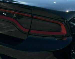 2015-2020 Dodge CHARGER Tail Light Tint Dark Smoke Vinyl Precut Film SRT SE SXT