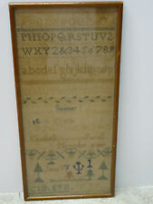 Summer Titled 1837 Elizabeth Farrell Stitched Needlework Sampler