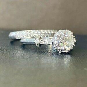 Tacori, Platinum, GCAL Certified Diamond Engagement Ring w/Wedding Band, 1TCW