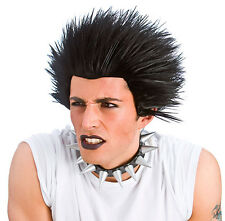 Punk Wig 80s Music Punker Adult Mens Halloween Fancy Dress Costume WIG 8187