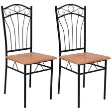Vidaxl Set 2 pz sedie da pranzo Marrone chiaro
