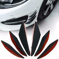 6pcs Car Front Bumper Lip Splitter Canards Carbon Fiber Refit Fins Spoiler E2A1