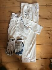 Boys Kookaburra Cricket Clothes And Gm 808 Batting Gloves
