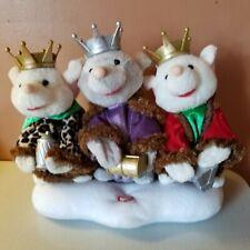 "Rare 2006 Gemmy Animated Trio King Mice Dancing Singing ""We Tree Kings"" Stuffed"