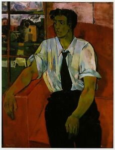 Portrait of Eric Verrico John Minton print in 11 x 14 inch mount ready to frame