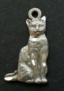 Cat Kitten Animals Pets Diamond Cut Charm Earrings Get 2 Silver - Jewelry