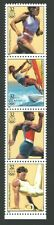 1996 ATLANTA Olympic US Postage Strip 32 Cent Stamps Running Sailboarding Sprint