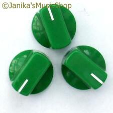 3 green potentiometer switch knobs guitar  amplifier etc stove pot knob + screw