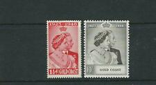 GOLD COAST 1948 SILVER WEDDING complete set of 2 VF MLH