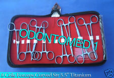 "Set of 8 Pcs Crile Forceps Curved Str 5.5"" Titanium Surgical Instrument"