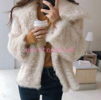 fashion Women lamb Fur Winter Warm furry thicken jacket Coat parka outwear lapel