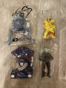 1998 Long John Silver's Lost In Space Hand Puppets Four Toy Lot Complete