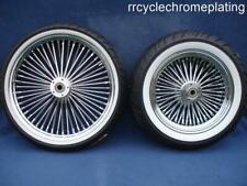 DNA Mammoth 52 Spoke Chrome Rim Hub Wheel Package Set Tires Harley Touring 09-19