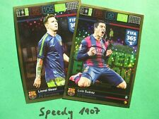Panini Adrenalyn FIFA 365 Limited Edition Messi Suarez Limitiert Trading Card