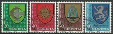 SCHWEIZ-Pro Juventute 1980/ Wappen MiNr 1187/90 o Ersttagstempel
