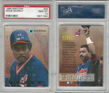 1995 Fleer Emotion Baseball, #36 Eddie Murray HOF, Indians, PSA 10 Gem