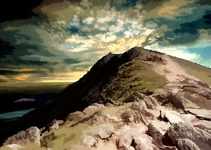 OLD MAN OF CONISTON LAKE DISTRICT Limited Art Print by Sarah Jane Holt