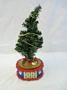 "Vintage 17"" Tall Avon ""Christmas is Coming"" Revolving Advent Calendar Tree Music"