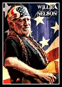 """4.75"""" Willie Nelson USA vinyl sticker. Classic country music decal for truck."""