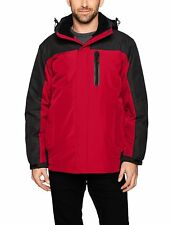 $269 HAWKE & CO Men RED BLACK HOODED WINTER WEATHER INSULATED COAT JACKET SIZE M